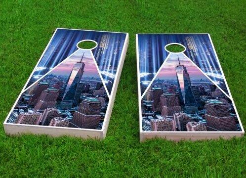 9/11 Tribute Cornhole Game (Set of 2) by Custom Cornhole Boards