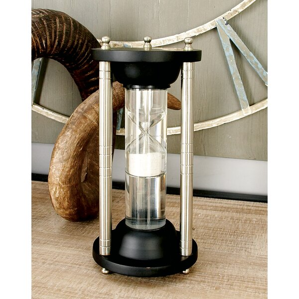 Wood Aluminum Glass Floating Sand Timer by Cole & Grey