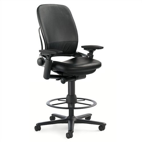 Leap® High-Back Leather Drafting Chair by Steelcase