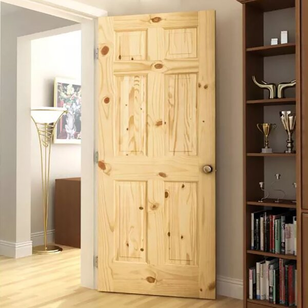 Colonial Solid Wood Panelled Pine Slab Interior Door by Kimberly Bay