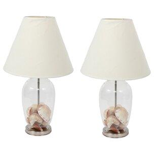 Fillable clear glass lamp wayfair fillable craft 145 table lamp set of 2 aloadofball Images