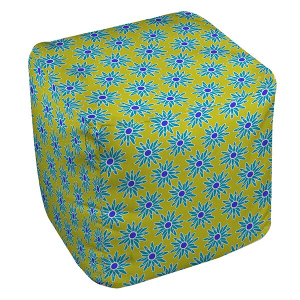 La Roque Summer Starburst Pouf by Manual Woodworkers & Weavers
