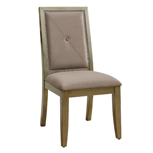 Mcdavid Upholstered Side Chair In Antique Gold (Set Of 2) By House Of Hampton