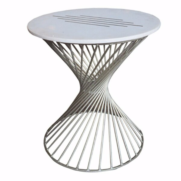 Anspach Beautiful Marble Makrana End Table by Brayden Studio