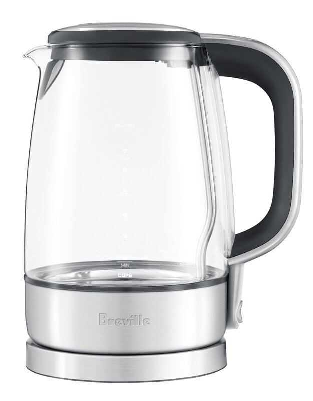 Breville 1.75 Qt. Glass/Stainless Steel Electric Tea Kettle