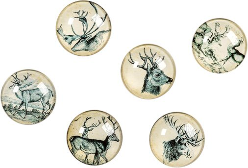 Deer Decorative Balls (Set of 6) by Ragon House Collection