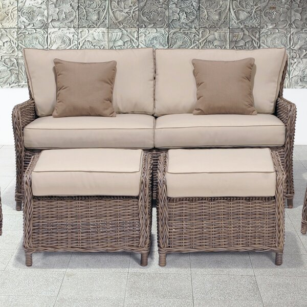 Avadi Outdoor Sofa & Ottomans 3 Piece Set by Wildon Home®