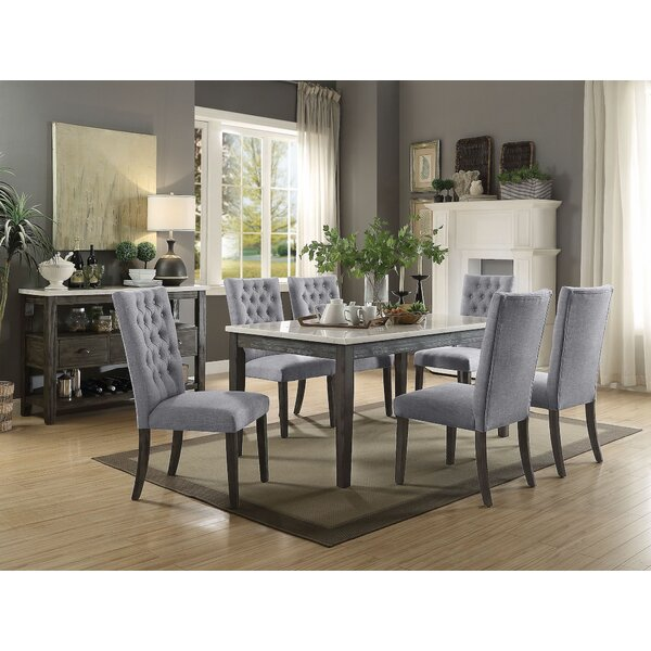 Denney 7 Pieces Dining Set by Gracie Oaks