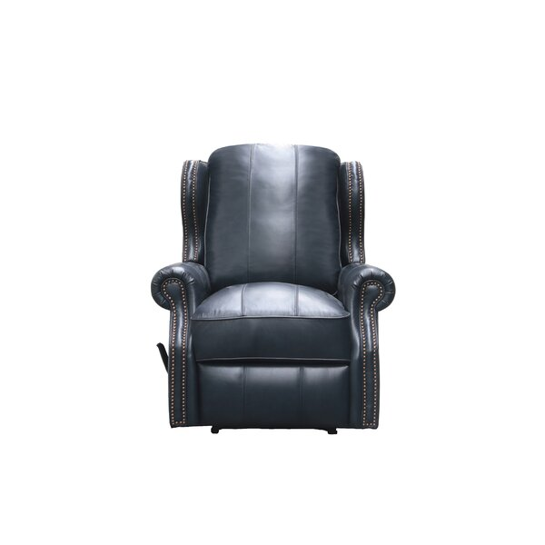 Abelardo Leather Manual Wall Hugger Recliner by 17 Stories