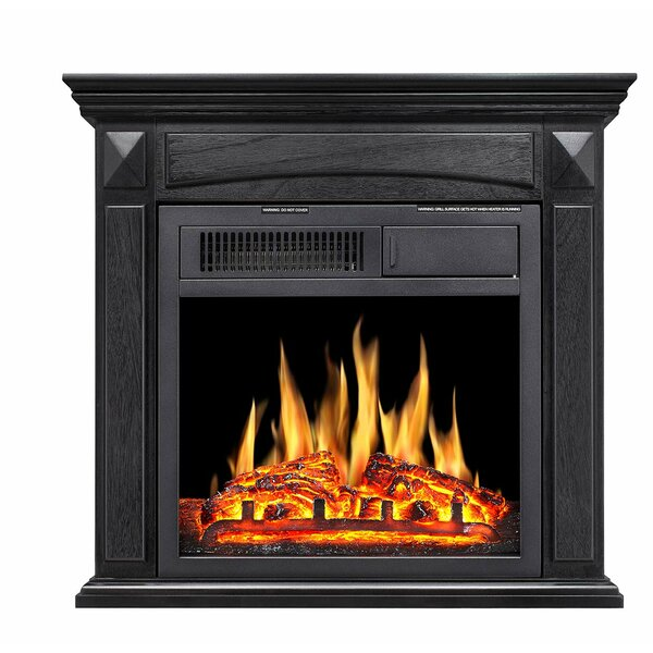 Swedish Hill Mantel Wooden Electric Fireplace By Charlton Home