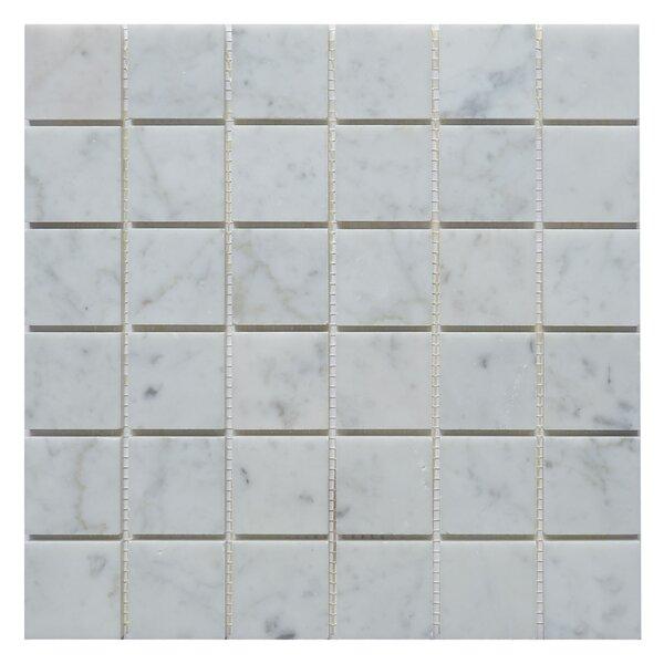 Carrara 2 x 2 Marble Mosaic Tile in White by Matrix Stone USA