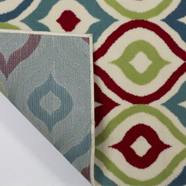 Lucia Red/Blue/Green Indoor/Outdoor Area Rug by Zipcode Design