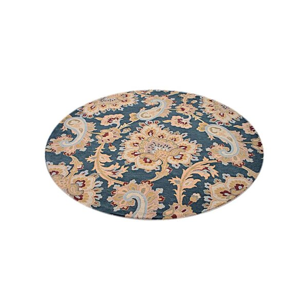 Smithton Hand-Tufted Wool Blue Area Rug by Red Barrel Studio