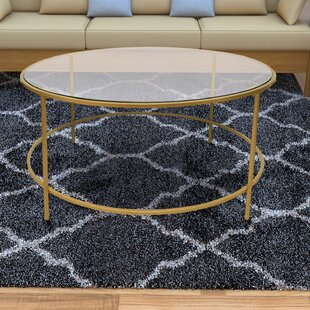 Ducharme Round Metal Framed Coffee Table with Tray Top