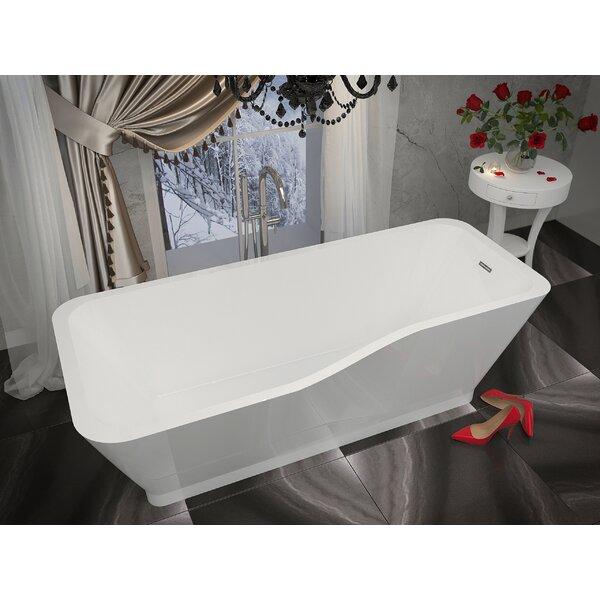 Salva 68.8 x 31.4 Freestanding Soaking Bathtub by ANZZI