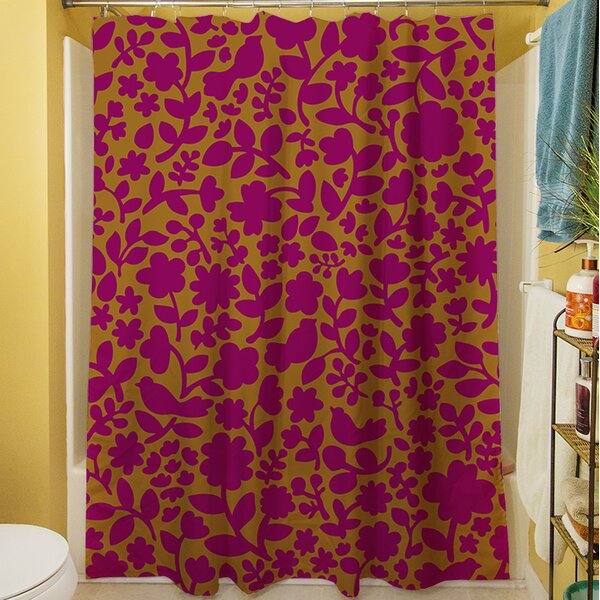 Ambrose Bird Shower Curtain by Manual Woodworkers & Weavers