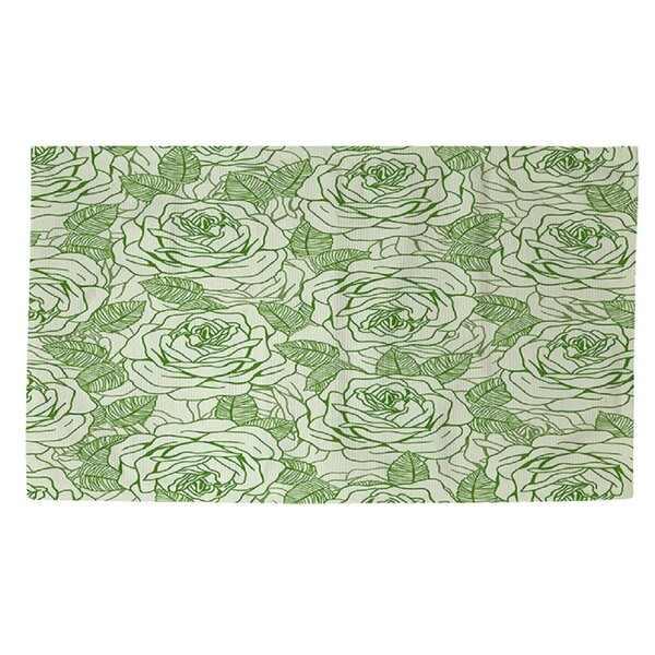 Rose Tonic Green Area Rug by Manual Woodworkers & Weavers