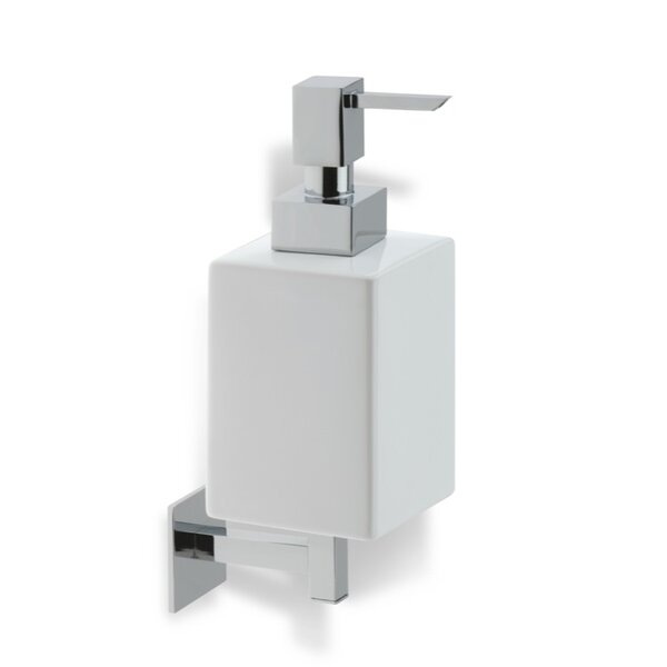 Urania Wall Mount Square Ceramic Soap Dispenser by Stilhaus by Nameeks