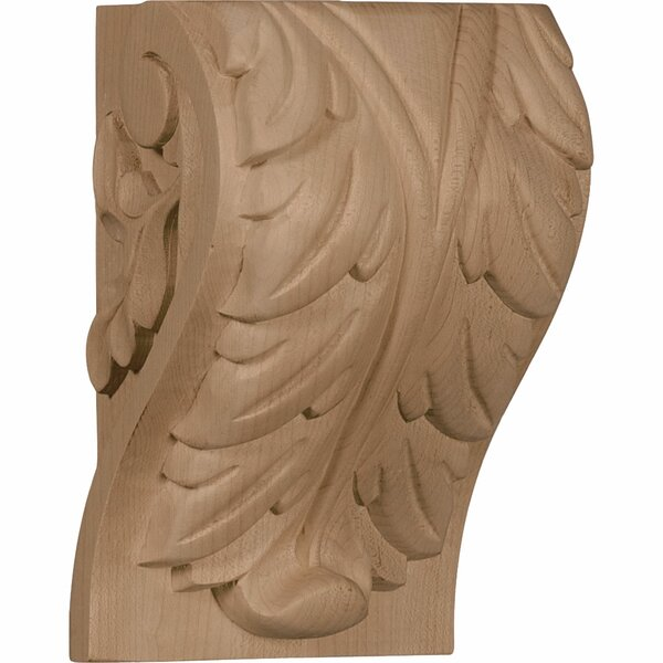 Acanthus 7H x 4 1/2W x 3 3/4D Extra Large Leaf Block Corbel in Hard Maple by Ekena Millwork