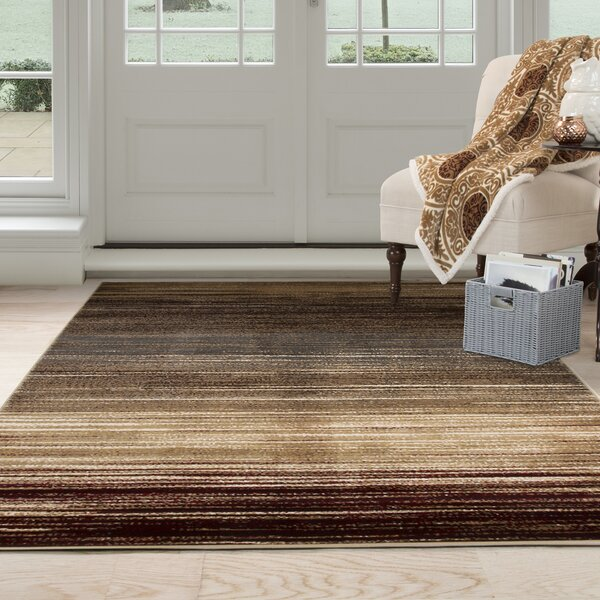 Abstract Stripes Cream Area Rug by Plymouth Home