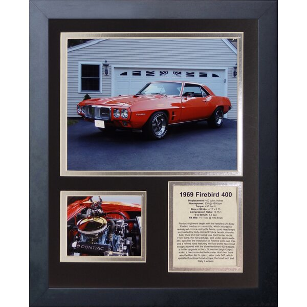 1969 Pontiac Firebird 400 Framed Memorabilia by Legends Never Die