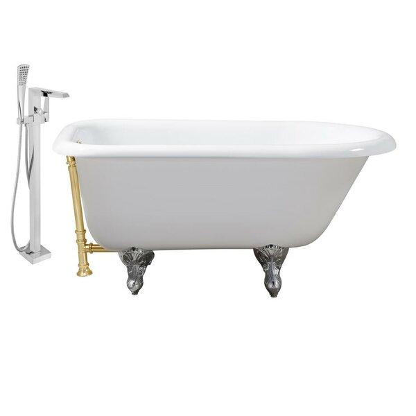 Cast Iron 66 x 30 Clawfoot Soaking Bathtub by Streamline Bath