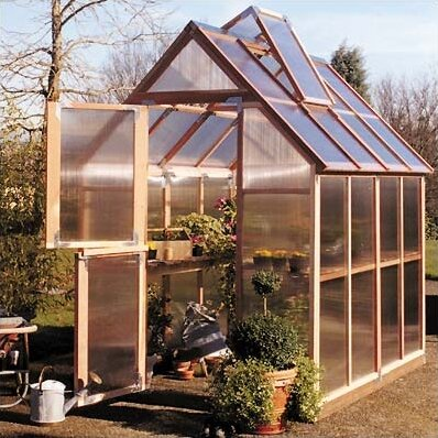 Mt. Hood 6 Ft. W x 8 Ft. D Greenhouse by Sunshine Gardenhouse