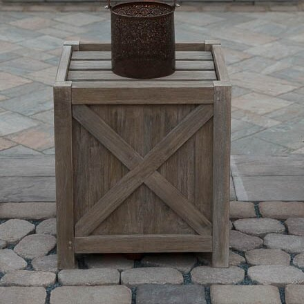Earnest Reclaimed Teak Planter Box by Rosecliff Heights