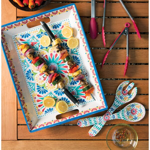 Adah Melamine Platter by Bungalow Rose