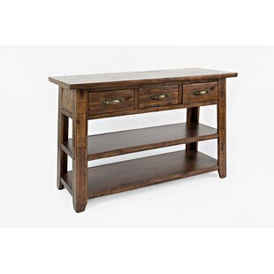Clintonpark Wooden Console Table ByLoon Peak