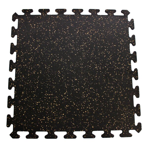 Interlocking Floor Rubber Mat (Set of 6) by Mats Inc.