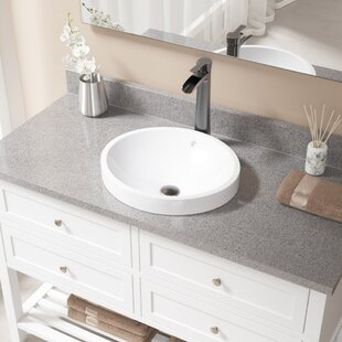 Searching for Vitreous China Circular Vessel Bathroom Sink with Faucet and Overflow ByMR Direct