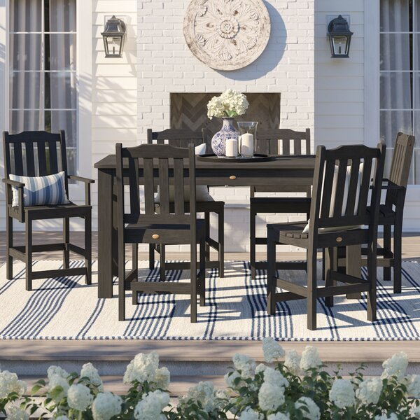 Amelia 7 Piece Dining Set by Three Posts