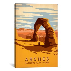 'Arches National Park, Utah' by Anderson Design Group Vintage Advertisement on Canvas by iCanvas