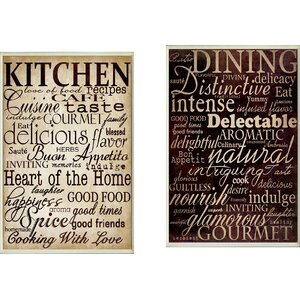 Isabell Dining and Kitchen 2 Piece Kitchen Textual Art Plaque Set by August Grove