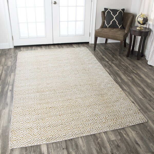 Allegan Hand-Loomed Natural Area Rug by Wrought Studio