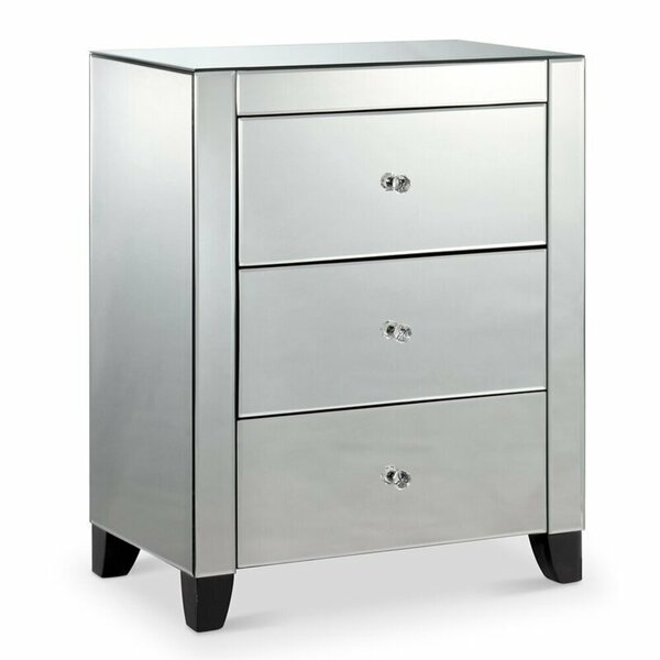 Ugarte 3 Drawer Nightstand by Rosdorf Park