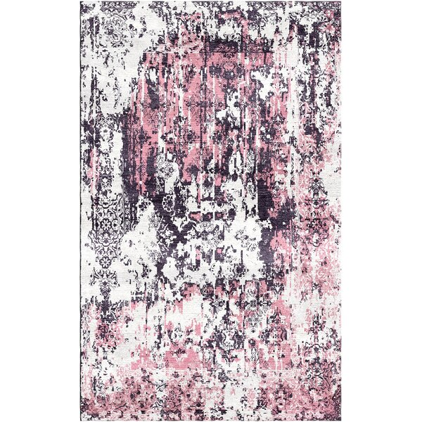 Aliza Handloom Rose/Gray Area Rug by Bungalow Rose