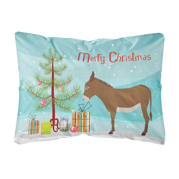 Miral Cotentin Donkey Christmas Indoor/Outdoor Throw Pillow by The Holiday Aisle