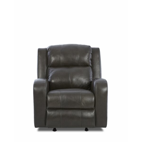 Acorn Oaks Leather Power Rocker Recliner by Red Barrel Studio