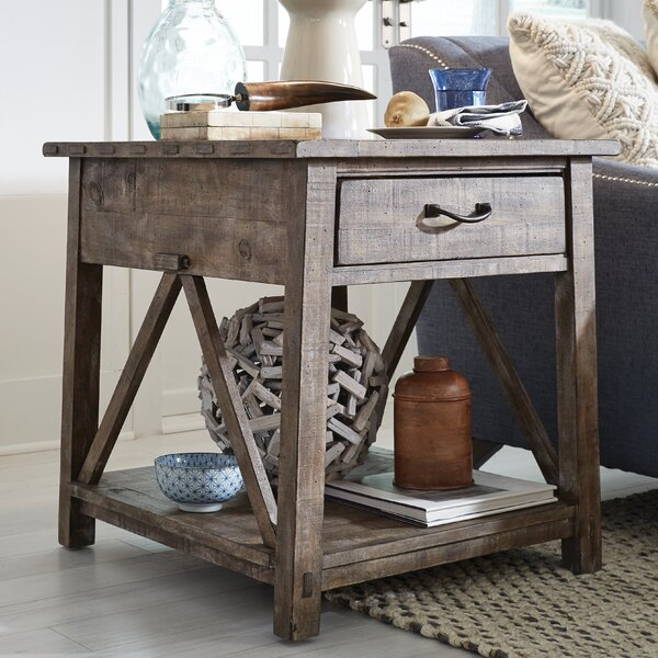 Royston End Table with Storage by Three Posts