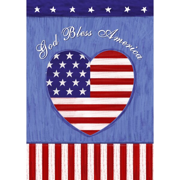 God Bless The U.S. 2-Sided Garden flag by Toland Home Garden