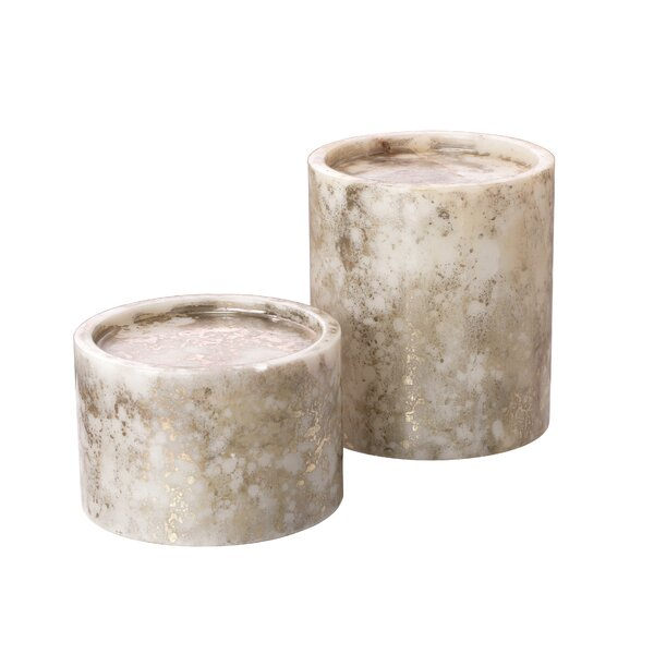 2 Piece Marble Candlestick Set by Bay Isle Home