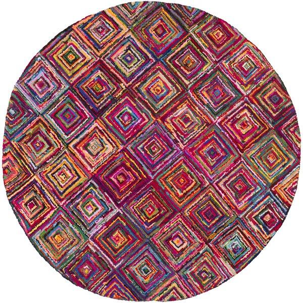 Tousana Handmade Magenta Area Rug by Bungalow Rose