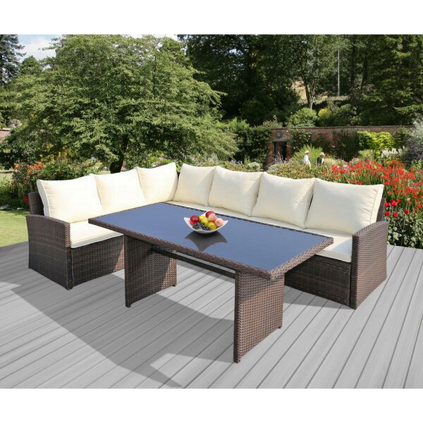 Barcelona 3 Piece Sectional Seating Group with Cushions by SunTime Outdoor Living