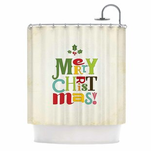 Online Reviews Merry Christmas Shower Curtain By East Urban Home