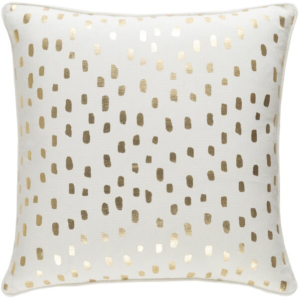 Carnell Dalmatian Dot Cotton Throw Pillow Cover by Mercury Row