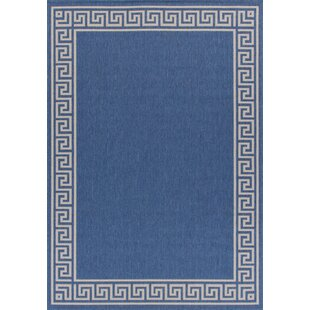 Titan Weather Proof Blue Indoor Outdoor Area Rug By Winston Porter