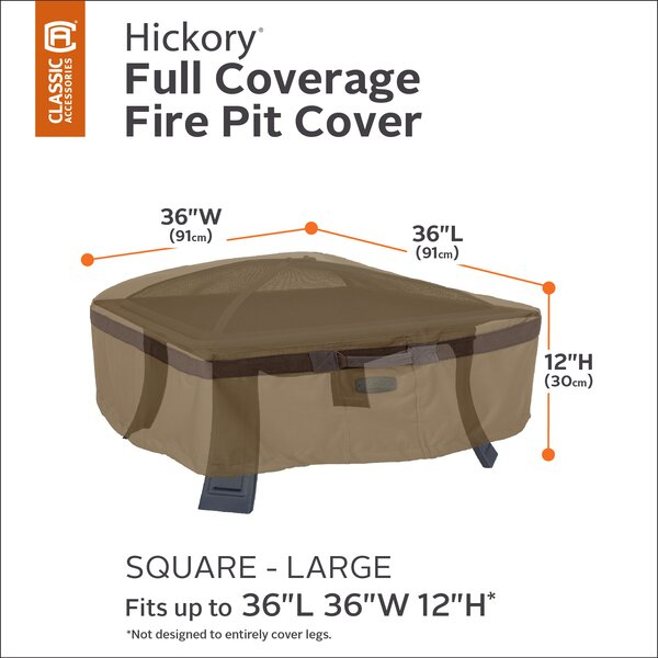 Hickory Fire Pit Cover by Classic Accessories
