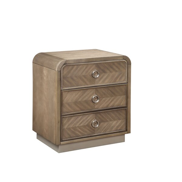 Minatare 3 Drawer Nightstand by August Grove
